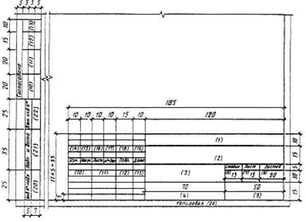 Штамп на исполнительных схемах